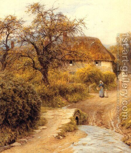 Hill Farm, Symondsbury by Helen Mary Elizabeth Allingham, R.W.S. - Reproduction Oil Painting