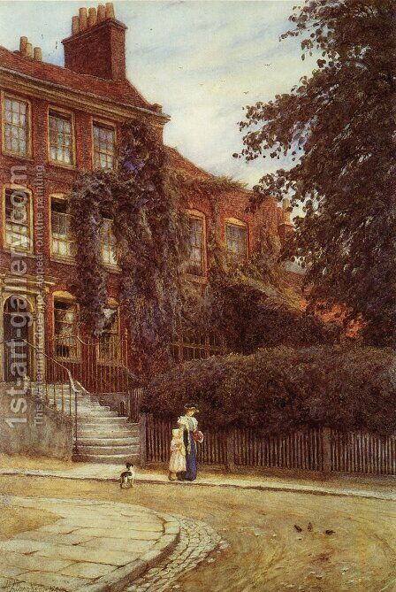 Stanfield House, Hampstead by Helen Mary Elizabeth Allingham, R.W.S. - Reproduction Oil Painting