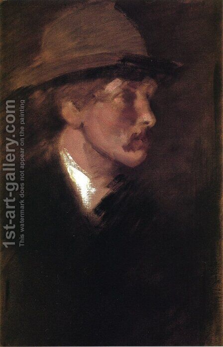Study of a Head by James Abbott McNeill Whistler - Reproduction Oil Painting
