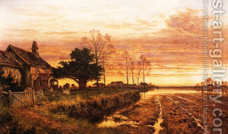 At Evening Time it Shall be Light by Benjamin Williams Leader - Reproduction Oil Painting