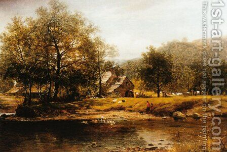 Old Mill, Bettws-y-coed by Benjamin Williams Leader - Reproduction Oil Painting