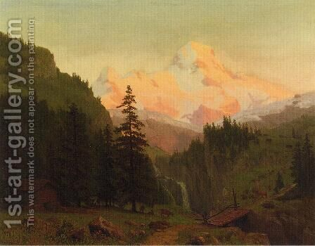 Landscape II by Albert Bierstadt - Reproduction Oil Painting