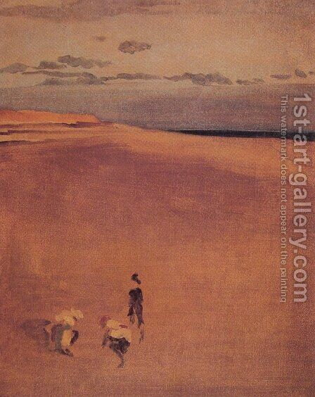 The Beach at Selsey Bill by James Abbott McNeill Whistler - Reproduction Oil Painting