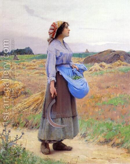 Returning from the Fields by Charles Sprague Pearce - Reproduction Oil Painting
