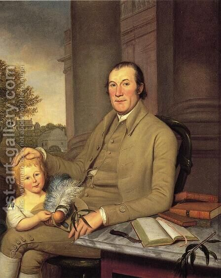 William Smith and His Grandson by Charles Willson Peale - Reproduction Oil Painting