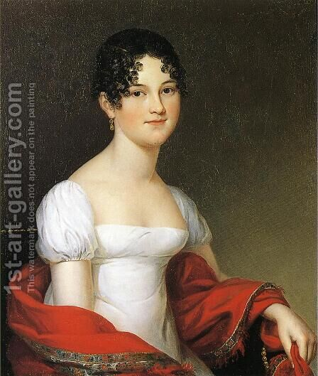 Anna Sophia Alexander Robertson (Mrs. William Heberton) by James Peale - Reproduction Oil Painting