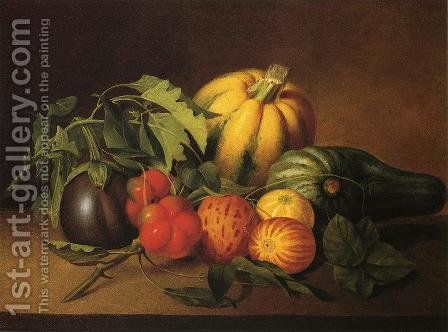 Vegetable Still Life by James Peale - Reproduction Oil Painting