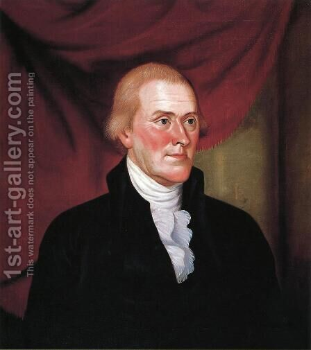 Thomas Jefferson by Charles Peale Polk - Reproduction Oil Painting