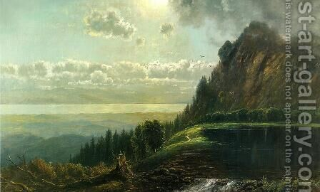 Catskill Landscape by Edmund Darch Lewis - Reproduction Oil Painting