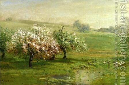 Blossoming Trees by Arthur Parton - Reproduction Oil Painting