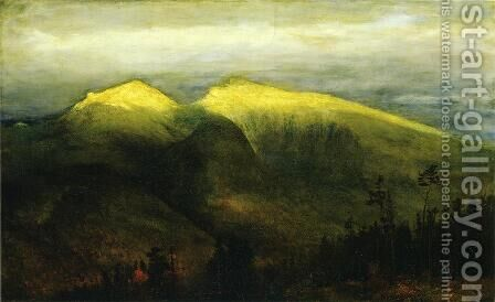 White Mountains, from Randolph Hill by Homer Dodge Martin - Reproduction Oil Painting