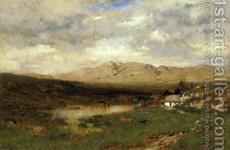 View in County Kerry by Alexander Helwig Wyant - Reproduction Oil Painting