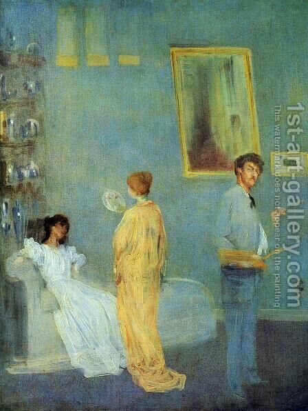 The Artist's Studio by James Abbott McNeill Whistler - Reproduction Oil Painting