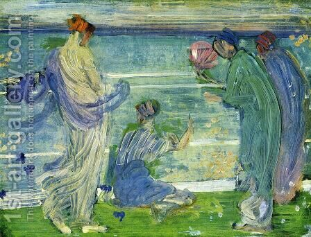 Variations in Blue and Green by James Abbott McNeill Whistler - Reproduction Oil Painting