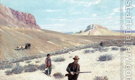 "Theodore Roosevelt ""Sage Grouse Shooting"" by Henry Farny - Reproduction Oil Painting"