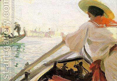 In my Gondola by Anders Zorn - Reproduction Oil Painting