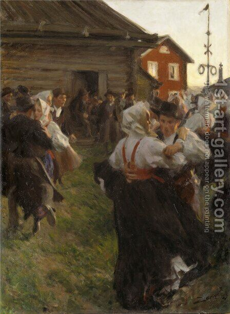 Midsummer Dance by Anders Zorn - Reproduction Oil Painting