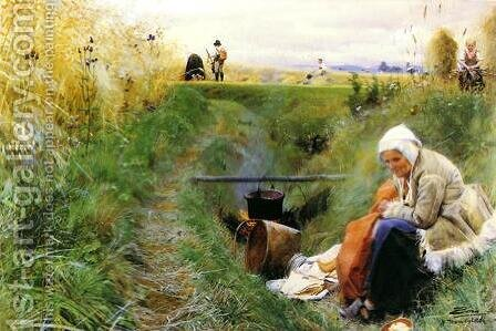 Our Daily Bread by Anders Zorn - Reproduction Oil Painting