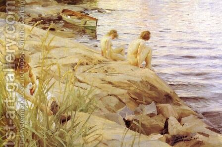Out by Anders Zorn - Reproduction Oil Painting