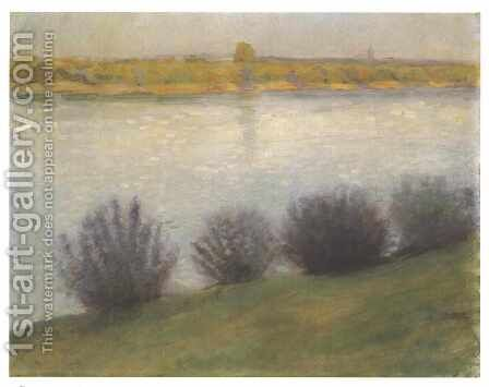 The Rhine near Herzel by August Macke - Reproduction Oil Painting