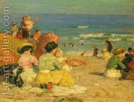 A Day at the Beach I by Edward Henry Potthast - Reproduction Oil Painting