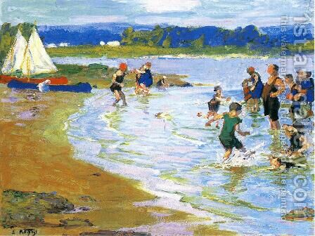The White Sails by Edward Henry Potthast - Reproduction Oil Painting