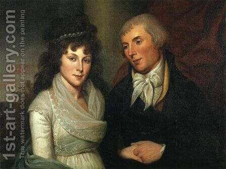 Mr. and Mrs. Alexander Robinson by Charles Willson Peale - Reproduction Oil Painting