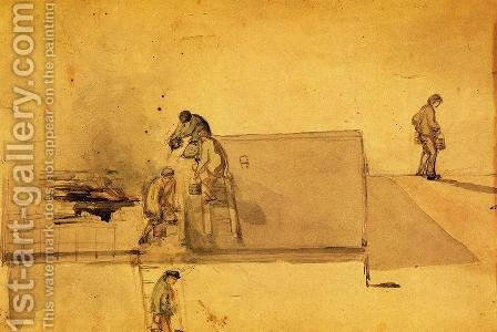A Fire at Pomfret by James Abbott McNeill Whistler - Reproduction Oil Painting
