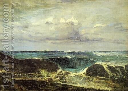 Blue and Silver: The Blue Wave, Biarritz by James Abbott McNeill Whistler - Reproduction Oil Painting