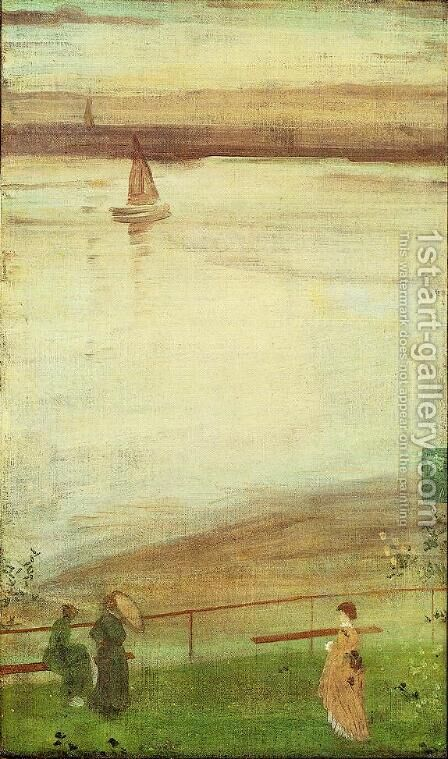 Variations in Violet and Green by James Abbott McNeill Whistler - Reproduction Oil Painting
