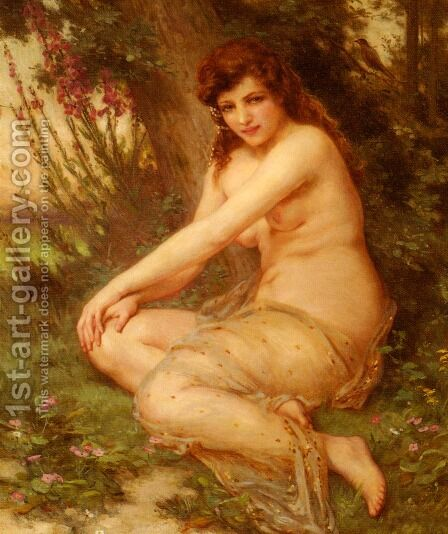 La Nymphe de Foret by Guillaume Seignac - Reproduction Oil Painting