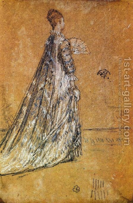 The Blue Dress by James Abbott McNeill Whistler - Reproduction Oil Painting