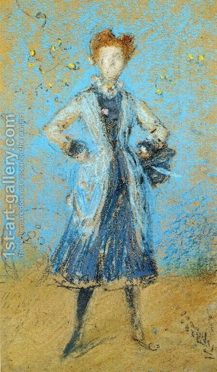 The Blue Girl by James Abbott McNeill Whistler - Reproduction Oil Painting