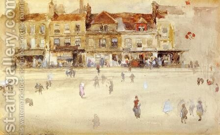 Chelsea Shops by James Abbott McNeill Whistler - Reproduction Oil Painting