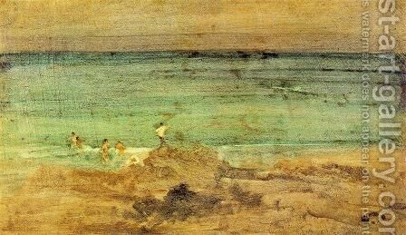 Violet and Blue: The Little Bathers, Perosquerie by James Abbott McNeill Whistler - Reproduction Oil Painting