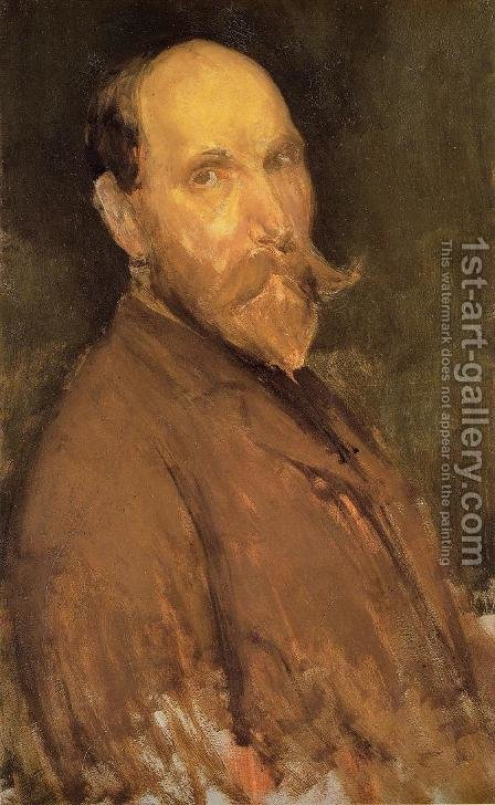 Portrait of Charles L. Freer by James Abbott McNeill Whistler - Reproduction Oil Painting