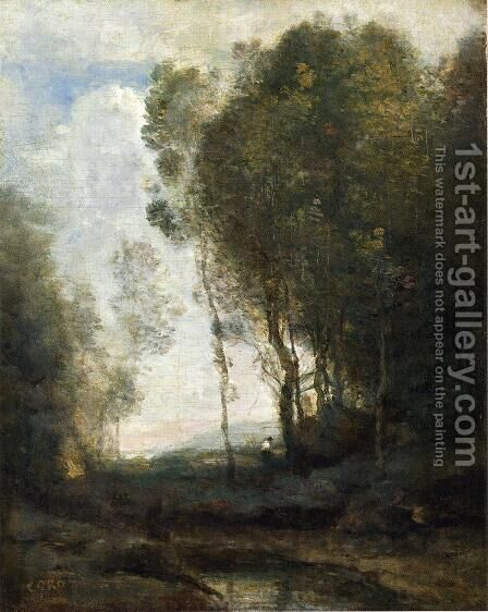 The Edge of the Forest by Jean-Baptiste-Camille Corot - Reproduction Oil Painting