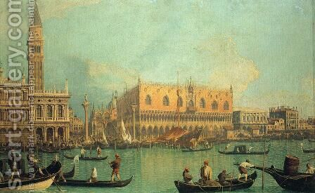 The Doge's Palace with the Piazza di San Marco by (Giovanni Antonio Canal) Canaletto - Reproduction Oil Painting