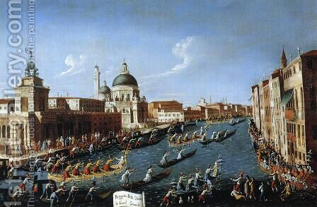 The Women's Regatta on the Grand Canal by (Giovanni Antonio Canal) Canaletto - Reproduction Oil Painting