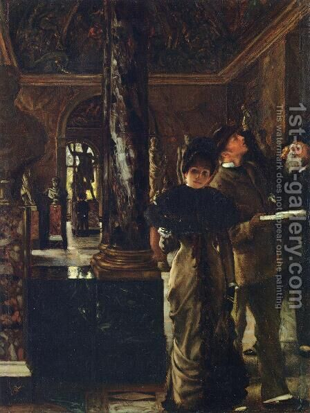 Foreign Visitors at The Louvre by James Jacques Joseph Tissot - Reproduction Oil Painting