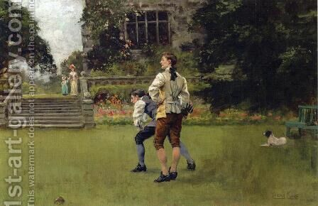 The Bowlers by Henry John Yeend King - Reproduction Oil Painting