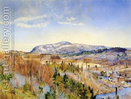 Mt. Everett from Monument Mountain in April by Henry Roderick Newman - Reproduction Oil Painting