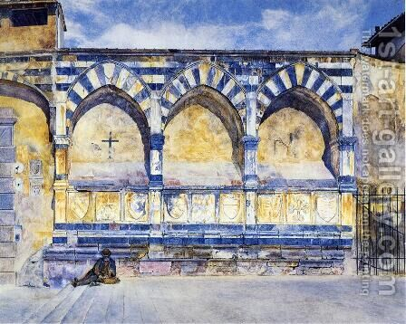 The Three Arches of Santa Maria Novella by Henry Roderick Newman - Reproduction Oil Painting