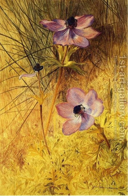 Florentine Wild Anemones by Henry Roderick Newman - Reproduction Oil Painting