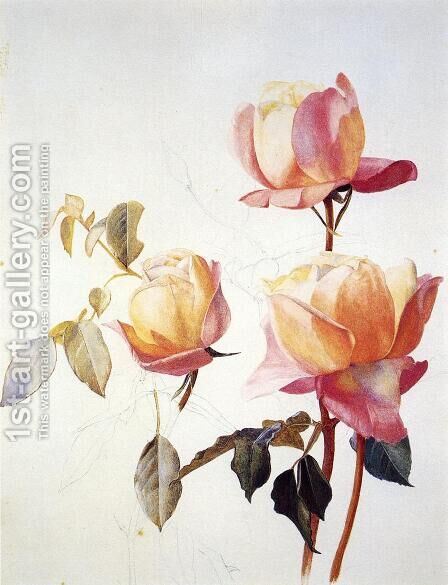 Florentine Roses by Henry Roderick Newman - Reproduction Oil Painting