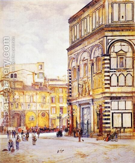 The Baptistery of San Giovanni by Henry Roderick Newman - Reproduction Oil Painting
