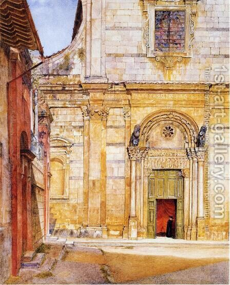 The Church of San Giovanni, Luca by Henry Roderick Newman - Reproduction Oil Painting