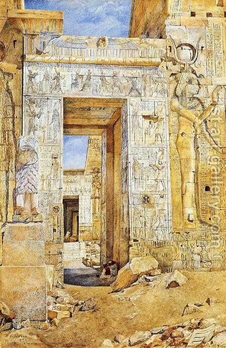 Portal of Nectanebus, Philae by Henry Roderick Newman - Reproduction Oil Painting