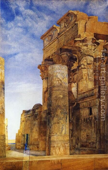 Kom Ombo by Henry Roderick Newman - Reproduction Oil Painting