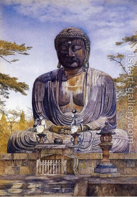 Daibutsu at Kamakura, Japan by Henry Roderick Newman - Reproduction Oil Painting